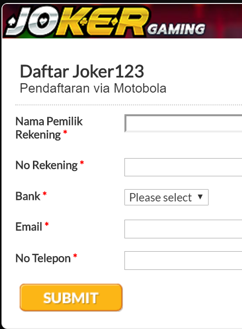 daftar joker123 motobola online