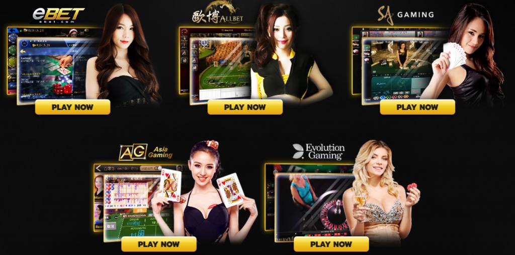 live casino floor